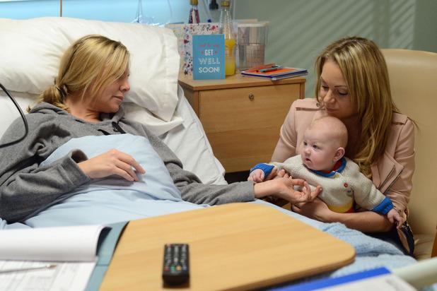 Ronnie talks to baby Matthew