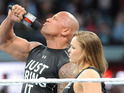 Dwayne Johnson & Ronda Rousey at Wrestlemania 31
