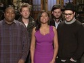 "Kenan Thompson also has difficulty as SNL promos go ""off the chain""."