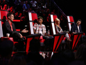 The Voice (US) coaches Adam Levine, Pharrell Williams, Christina Aguilera, Blake Shelton