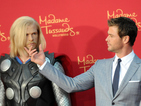 Scarlett Johansson, Chris Hemsworth and Elizabeth Olsen hit the Avengers red carpet.