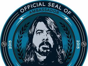 Dave Grohl Record Store Day ambassador logo