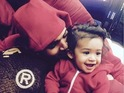 Chris Brown with his daughter Royalty