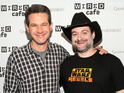 Steve Kinberg and Dave Filoni attend the WIRED cafe at Comic Con 2014