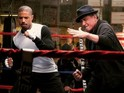 The actor releases a photo of himself with co-star Michael B Jordan in the ring.