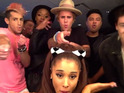 Bieber and friends singalong to Carly Rae Jepsen's latest single 'I Really Like You'.