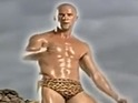 The actor featured in the video for 'Comin' On' wearing cheetah-print briefs.