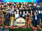 Can you identify the Doctor Who characters in Sgt Pepper homage?