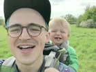 Tom Fletcher shares adorable video of son Buzz laughing at a dandelion