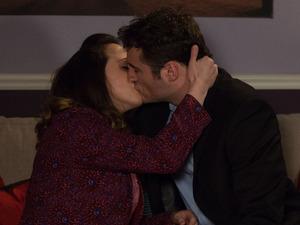 Martin and Sonia kiss