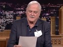 John Cleese switches places with Jimmy Fallon on The Tonight Show - and the show go off the rails.