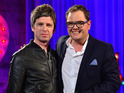 "Gallagher tells Alan Carr that he ""can't be arsed"" about reuniting with his brother."