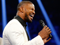 Jamie Foxx sings the national anthem of the United States of America before the welterweight unification championship bout between Floyd Mayweather Jr. and Manny Pacquiao