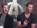 Scarlett Johansson, Chris Evans, Chris Hemsworth and the rest of the cast take on the challenge.