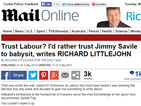 Richard Littlejohn sinks to new depths with a Jimmy Savile 'babysitter' joke