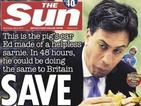#JeSuisEd: Twitter defends Ed Miliband's eating skills after The Sun cover