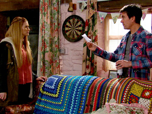 Debbie visits Cain, irked he's interfering and insisting she doesn't have feelings for Ross.