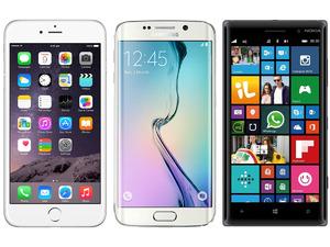 The Apple iPhone 6, Samsung S6 Edge & Nokia Lumia 830
