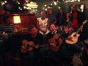 The new supergroup performed an acoustic version of 'Tender'.