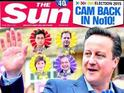 """A """"vote for sanity"""" or """"five more damned years""""? The front page verdict on David Cameron's victory."""