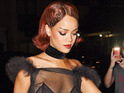 Rihanna arriving at Rihann's private Met Gala after party in New York