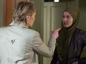 An angry Shirley confronts Shabnam over her baby lies next week.