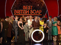 Adam Woodyatt, who plays Ian Beale, dedicates the award to all of the other soaps.