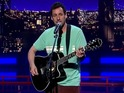 Adam Sandler says goodbye to David Letterman in the best way he can – through song!