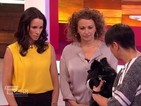 Loose Women's Andrea McLean goes under the spell of Britain's Got Talent's Hypno Dog