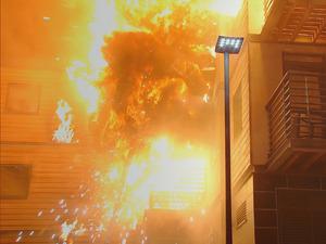Victoria Court explodes