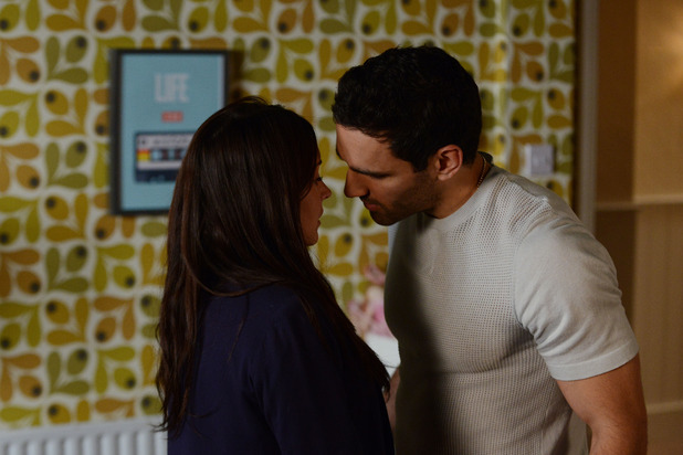 Stacey and Kush struggle to resist each other
