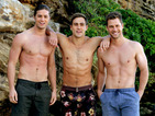 Neighbours' Brennan brothers strip off for beach photoshoot