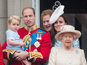 Prince George wears his father's outfit for balcony debut
