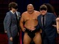 See James Corden nuzzle a sumo wrestler