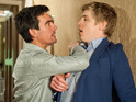 Get a first look at Robert's attempts to blackmail Cain Dingle.