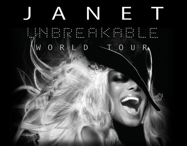 Janet Jackson Unbreakable World Tour poster.