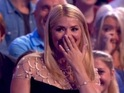 Surprise Surprise host gets emotional as her father makes an unexpected entrance on the show.