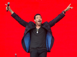 Lionel Richie performs live on the Pyramid stage during the third day of Glastonbury Festival