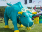Glastonbury unveils its charging bull