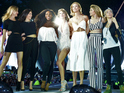 The singer invited Gigi Hadid, Cara Delevingne and Kendall Jenner to add some style to her Hyde Park show.