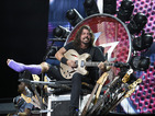 Dave Grohl sits in awesome guitar throne at Foo Fighters' 20th anniversary show