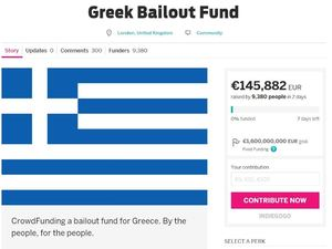 The Greek Bailout crowdsourcing fund on Indiegogo