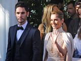 Cheryl Fernandez Versini and husband Jean Bernard seen leaving their hotel in Cannes