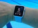 The wearable is shown doing multiple lengths of London's 50m Olympic pool with a new swimming app.