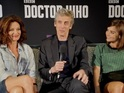 Peter Capaldi, Jenna Coleman and Michelle Gomez reveal secrets of series 9.