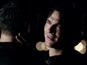 Vampire Diaries' Delena rain kiss with a twist