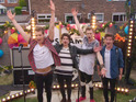 The band perform in a 15-year-old's back garden as a reward for helping to care for her younger brother and sister.