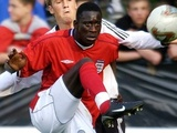Cherno Samba in action for the England Under-19s