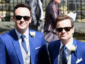 Declan Donnelly and Ali Astall wedding: Ant and Dec arrive in an Aston Martin