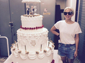 Lady Gaga surprises Tony Bennet with a giant birthday cake